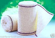 Bande de contention de crêpe en pur coton 10cm x 4m bandage plaie 100% COTON