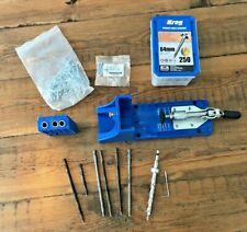 Kreg Pocket-Hole Jig, with screws and various bits.