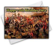 RORKE'S DRIFT Personalised Birthday / Christmas / Card - Large A5 - Zulu War