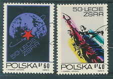 Poland used stamps 50 years USSR  (Mi. 2212-13)