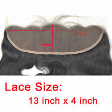 "Remy Virgin Human Hair Silk Base 13""x4"" Lace Frontal Closure Natural Body Wave"