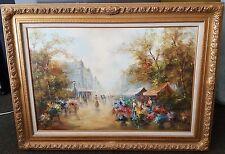 Zoran Jelascek Oil on canvas 45 1/2 x 33 1/4 framed signed
