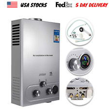18L Tankless Hot Water Heater Portable Propane Gas LPG Stainless Steel Outdoor
