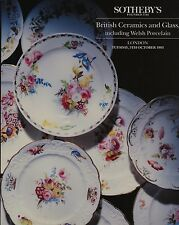 British CERAMICA E VETRO compresi Gallese PORCELLANA CATALOGO D'ASTA