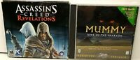 2 Games DVD-ROM Assassin's Creed Revelations/WIN95/98 Mummy Tomb Of The Pharaoh