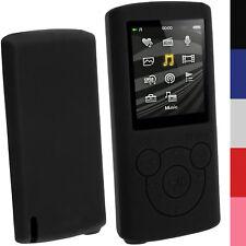Nero Custodia Silicone Case Cover per Sony Walkman NWZ-E384 E383 + Prot. Schermo