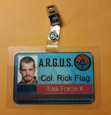 Suicide Squad Id badge- ARGUS Col. Rick Flag Team Force X cosplay costume Prop