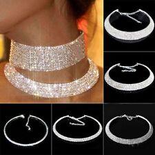 Modeschmuck-Halsketten & -Anhänger aus Strass und Metall-Legierung mit Kristall