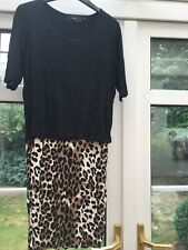 Ladies Size 8 Double Layer Dress From Next Animal Print Bottom