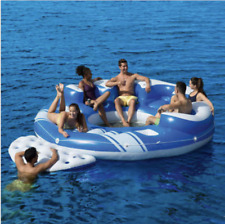 Bestway CoolerZ Blue Caribbean Inflatable Floating Island 6 Person Over 10f