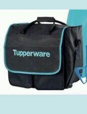 "Tupperware Large Duffle Kit Bag Award Consultant Logo Aqua Black 16""x16""x10"""