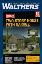 HO Scale Walthers Cornerstone 933-3792 Two-Story House w/Garage Building Kit