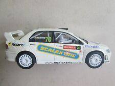 Scalextric Mitsubishi Lancer Wrc Wales rally slot car 1/32 70 Ec lights 23