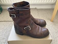 Red Wing Engineer Boots Uk 7 Eu 41 Tan Leather