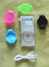 Clear Crystal case for ipod nano 2nd gen & scroll wheel protectors & Lanyard UK