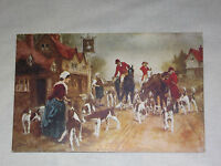 VINTAGE 1908 FOX HUNTING HOUNDS DOGS     POSTCARD