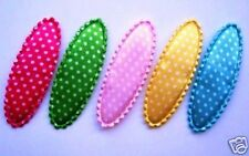 "100 Padded Satin Polka Dot Hair Clip 2.25""/Bow Cover/custom made/supply/girl L93"