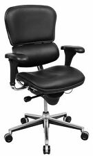 Ergohuman Raynor LE10ERGLO Ergonomic Leather Office Chair Low Back Black
