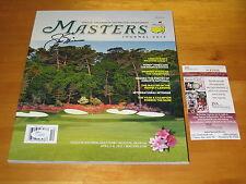 Jack Nicklaus signed 2012 Masters Tournament HOF PGA Tour Golf Program JSA