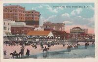 Postcard Horses Ponies on Beach Atlantic City NJ