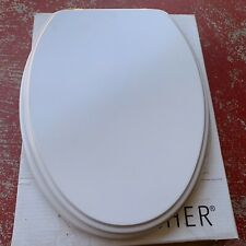 Porcher 70110-00.001 WHITE Elongated Slow Close Toilet Seat with Brass Hinges