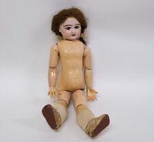 "Antique French Bisque Head Character Doll  ""EDEN BEBE"" Paris"