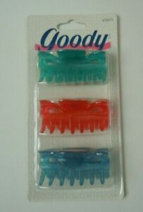 Goody Claw Clip 3 Count Vintage 90s You Choose Color