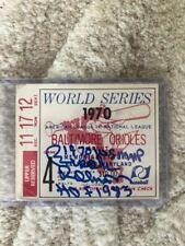 BROOKS ROBINSON SIGNED AUTOGRAPHED 1970 WORLD SERIES GAME 4 TICKET HOF MVP