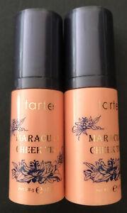 New Lot Of Two 2 TARTE Maracuja Cheek Tint Blush LIGHT NECTAR 0.35 oz. Free Ship