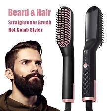Electric Beard Hair Straightener Quick Heated Brush Straightening Comb Styler