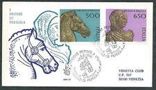 1988 ITALIA FDC VENETIA 664 I BRONZI DI PERGOLA TIMBRO DI ARRIVO - Q