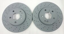 Genuine Mercedes-Benz W176 A-Class FRONT Drilled AMG Brake Discs A246421251207