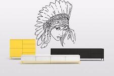 Wall Room Decor Vinyl Sticker Nursery Decal Indian Chief Girl Sweet Nice F2100
