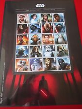 2017 Star Wars Ultimate Collectors Sheet 20 Stamps Presentation MINT CONDITION