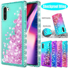 For Samsung Galaxy Note 10 S20 S10 Plus 5G A10e Bling Glitter Liquid Case Cover