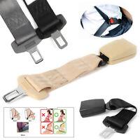 Seat Adjustable Seatbelt Safety Belt Extension Extender Buckle Universal Beige