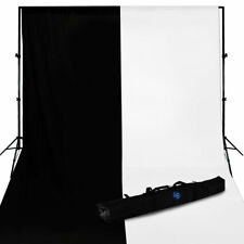 20x10' Muslin Black and White Backdrop Stand Kit Photo Photography Set Studio