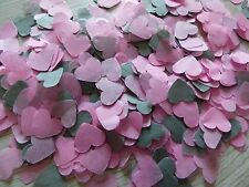 2000 Rose Pink and Grey Hearts/Wedding Confetti/Party/Biodegradable/Decoration