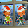Large Christmas Elves Elf Snowflake Xmas Wall Decal PVC Window Sticker Decor UK