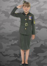 Childrens Size Army Girl Costume