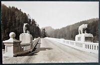 Douglas Memorial Bridge Klamath River California antique RPPC