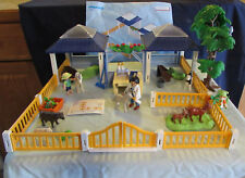 Playmobil Petting Zoo #4344 Donkey Horse Cow Structure Playset 99% Complete GUC