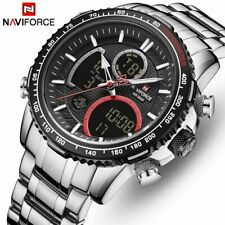 NAVIFORCE Men Fashion Sport Chronograph Quartz Full Steel Analog Digital Watches