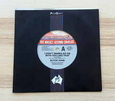 "Elton John ‎– I Don't Wanna Go On With You Like That - 7"" 45  Single"