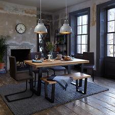 John Lewis Calia 160-240cm Extending Dining Table, Oak & Iron