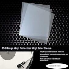 "50 7"" Inch 450g Gauge 45 Vinyl Storage Single Plastic Polythene Record Sleeves"