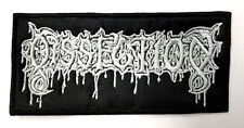 DISSECTION WHITE LOGO   EMBROIDERED  PATCH