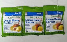 Zand Organic Lemon Honey Soother Lozenges 3 Pack Total of 54 Lozenges Exp 03/21