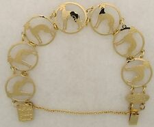 Italian Greyhound Jewelry Gold Bracelet by Touchstone