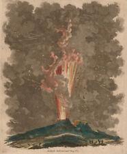 Mount Vesuvius Volcano Erupting Ausbruch 1779 Italy 6x5 Inch Print